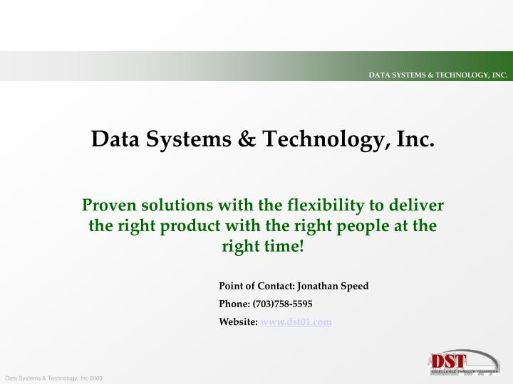 Data Systems & Technology, Inc.