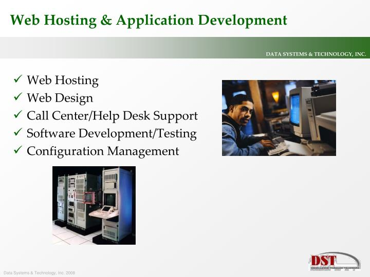 Web Hosting & Application Development