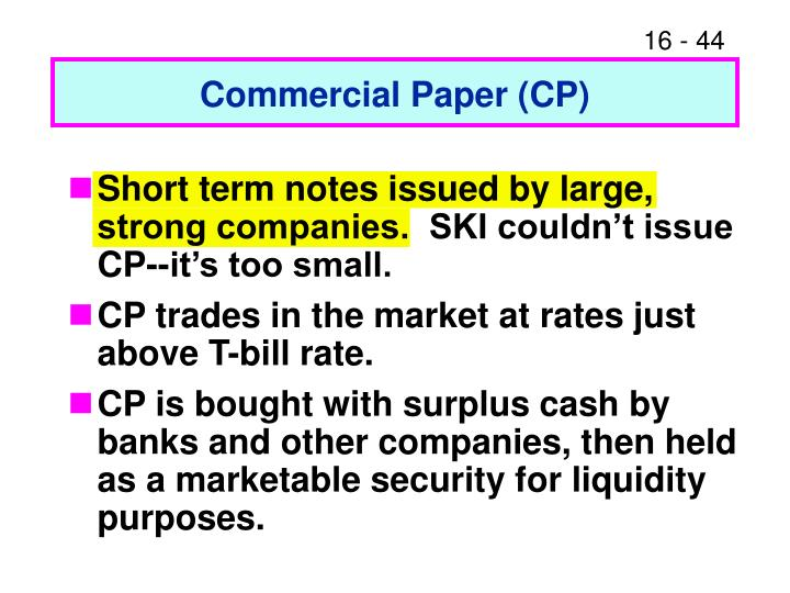 Commercial Paper (CP)