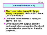 commercial paper cp