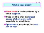 what is trade credit