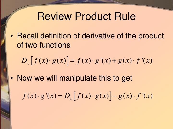 Review Product Rule