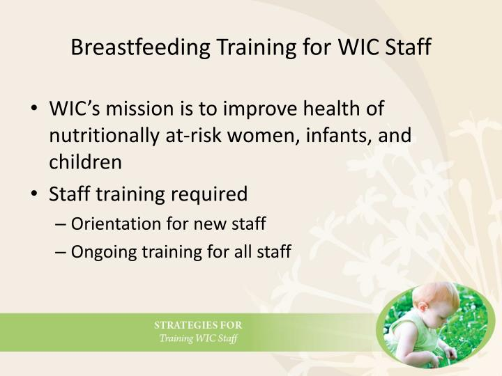 Breastfeeding Training for WIC Staff