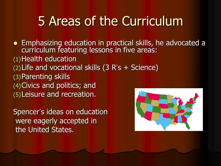 5 Areas of the Curriculum