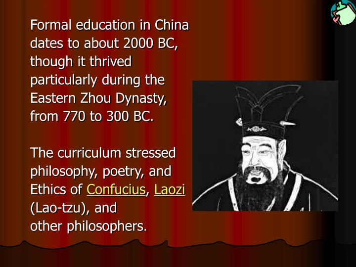 Formal education in China