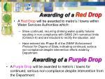 awarding of a red drop