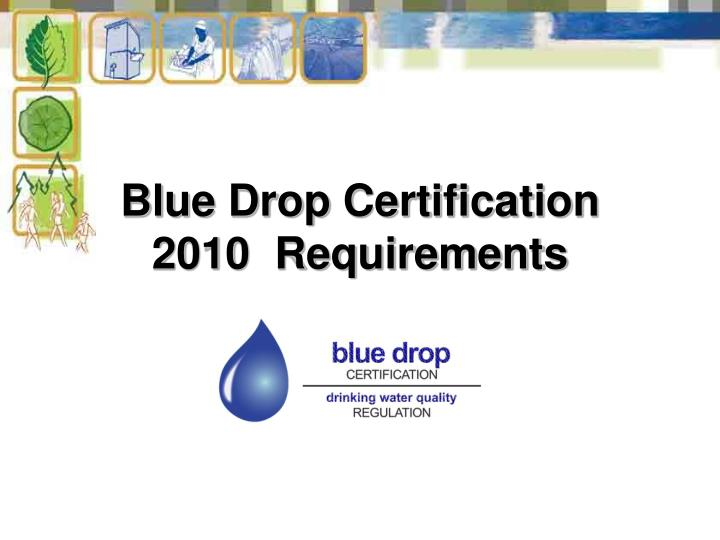 Blue Drop Certification