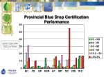 provincial blue drop certification performance