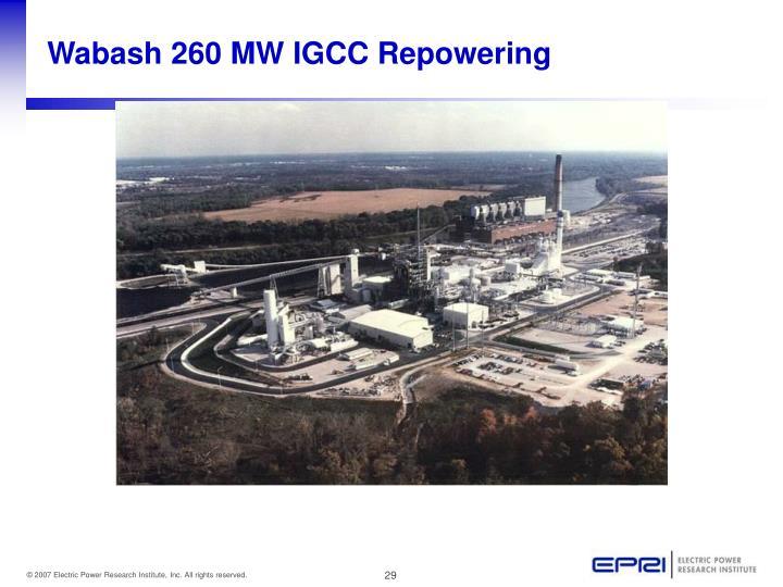 Wabash 260 MW IGCC Repowering
