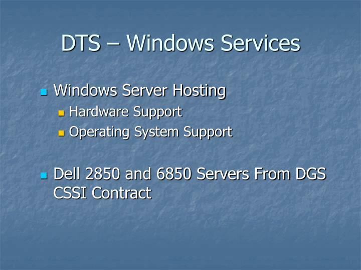 DTS – Windows Services