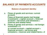 balance of payments accounts4