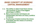 basic concept of working capital management1