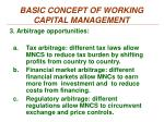 basic concept of working capital management2