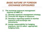 basic nature of foreign exchange exposures1