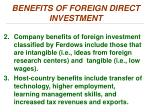 benefits of foreign direct investment1