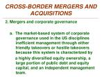 cross border mergers and acquisitions1