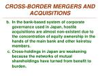 cross border mergers and acquisitions2
