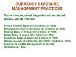 currency exposure management practices2