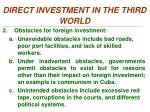 direct investment in the third world1