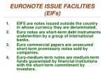 euronote issue facilities eifs