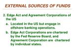 external sources of funds1