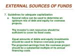 external sources of funds6