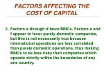 factors affecting the cost of capital1