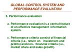 global control system and performance evaluation1