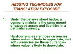 hedging techniques for translation exposure