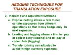 hedging techniques for translation exposure2
