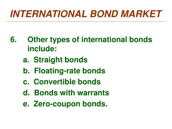 INTERNATIONAL BOND MARKET