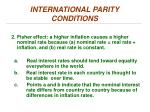 international parity conditions1