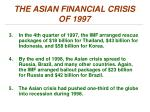 the asian financial crisis of 19971