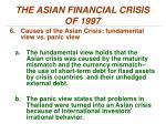 the asian financial crisis of 19972