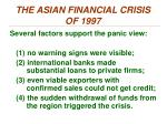 the asian financial crisis of 19973