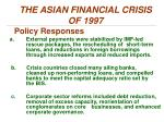 the asian financial crisis of 19974