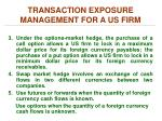 transaction exposure management for a us firm2