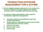 transaction exposure management for a us firm3
