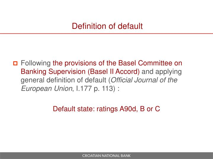 Definition of default