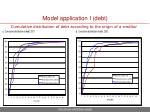 model application i debt