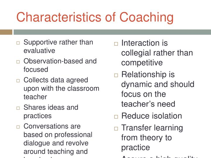 Characteristics of Coaching