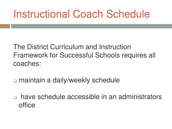 Instructional Coach Schedule