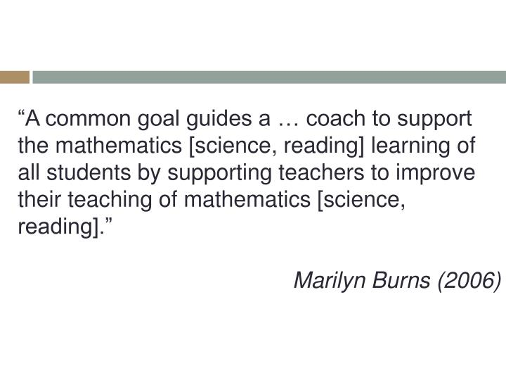 """A common goal guides a … coach to support"