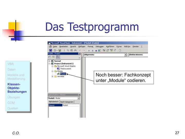 Das Testprogramm
