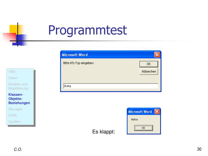 Programmtest