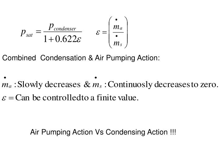 Combined  Condensation & Air Pumping Action: