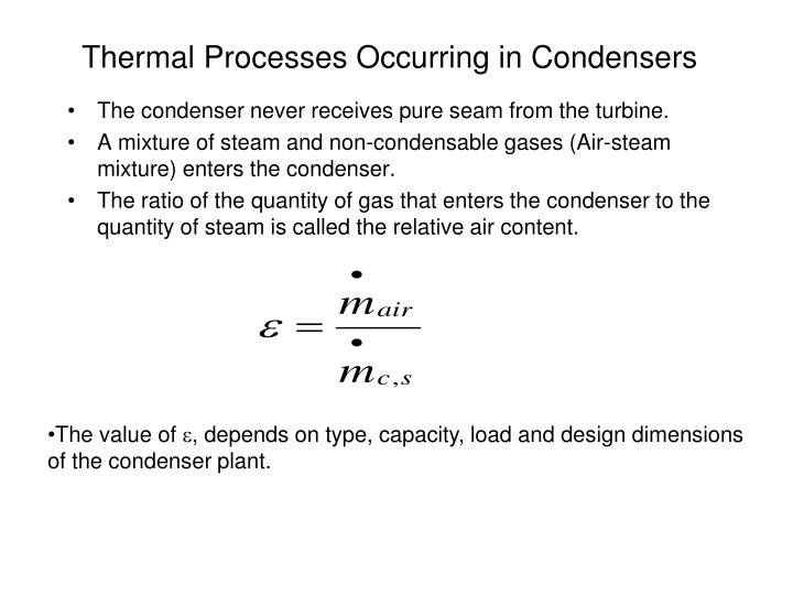 Thermal Processes Occurring in Condensers