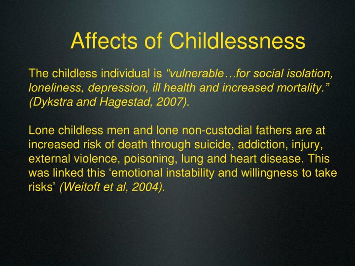 Affects of Childlessness