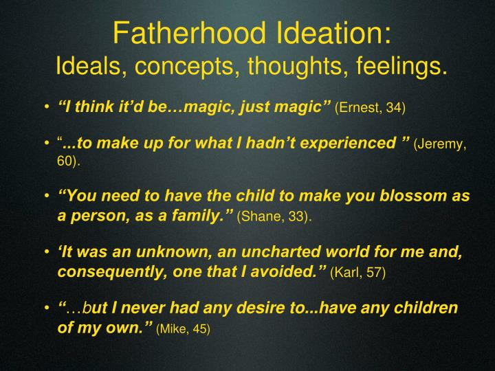 Fatherhood Ideation: