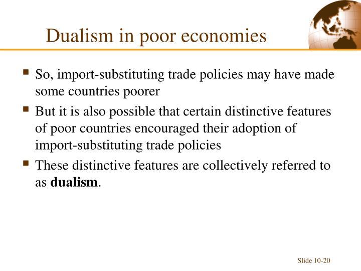 Dualism in poor economies